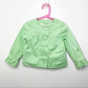 Janie and Jack Green Spring Jacket